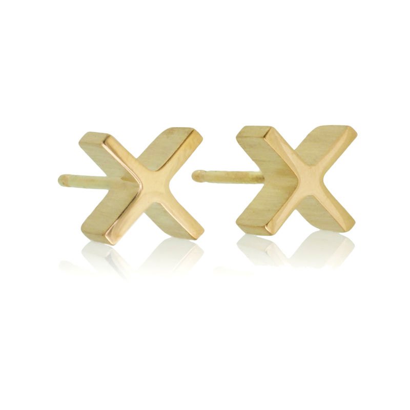 mini 'xx' earrings - Sterling Silver - product images  of