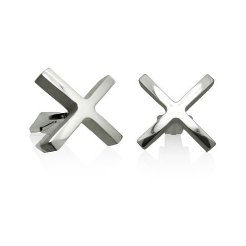 'XX',cufflinks,Mens jewellery, contemporary jewellery, cufflinks, silver cufflinks, sterling silver cufflinks