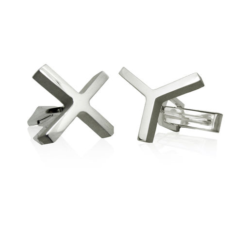 'XY',cufflinks,sterling silver, contemporary fine jewellery