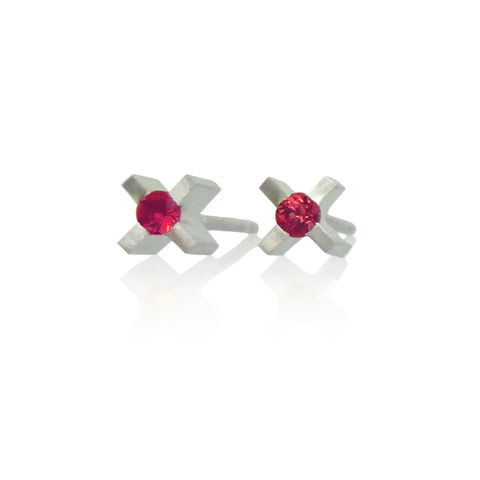 micro,'xx',earrings,with,rubies