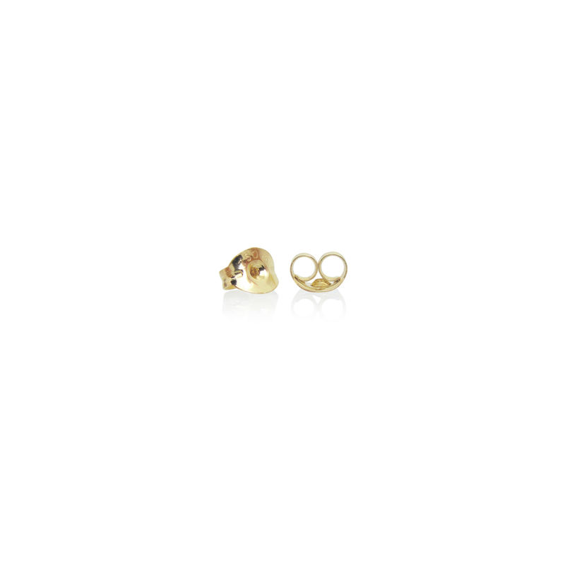 mini 'xx' earrings - 18k yellow Fairtrade & Fairmined gold micropave - product images  of