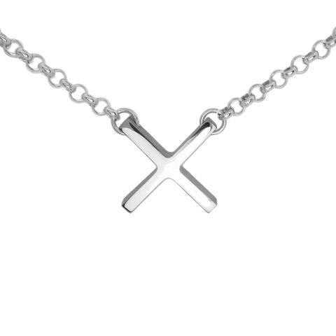 Bold,'X',necklace,Sterling Silver necklaces, contemporary jewellery, x necklace