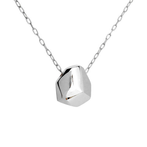 Asteroid,Necklace,-,sterling,silver,Recycled sterling silver, contemporary jewellery, asteroid, ethical jewellery