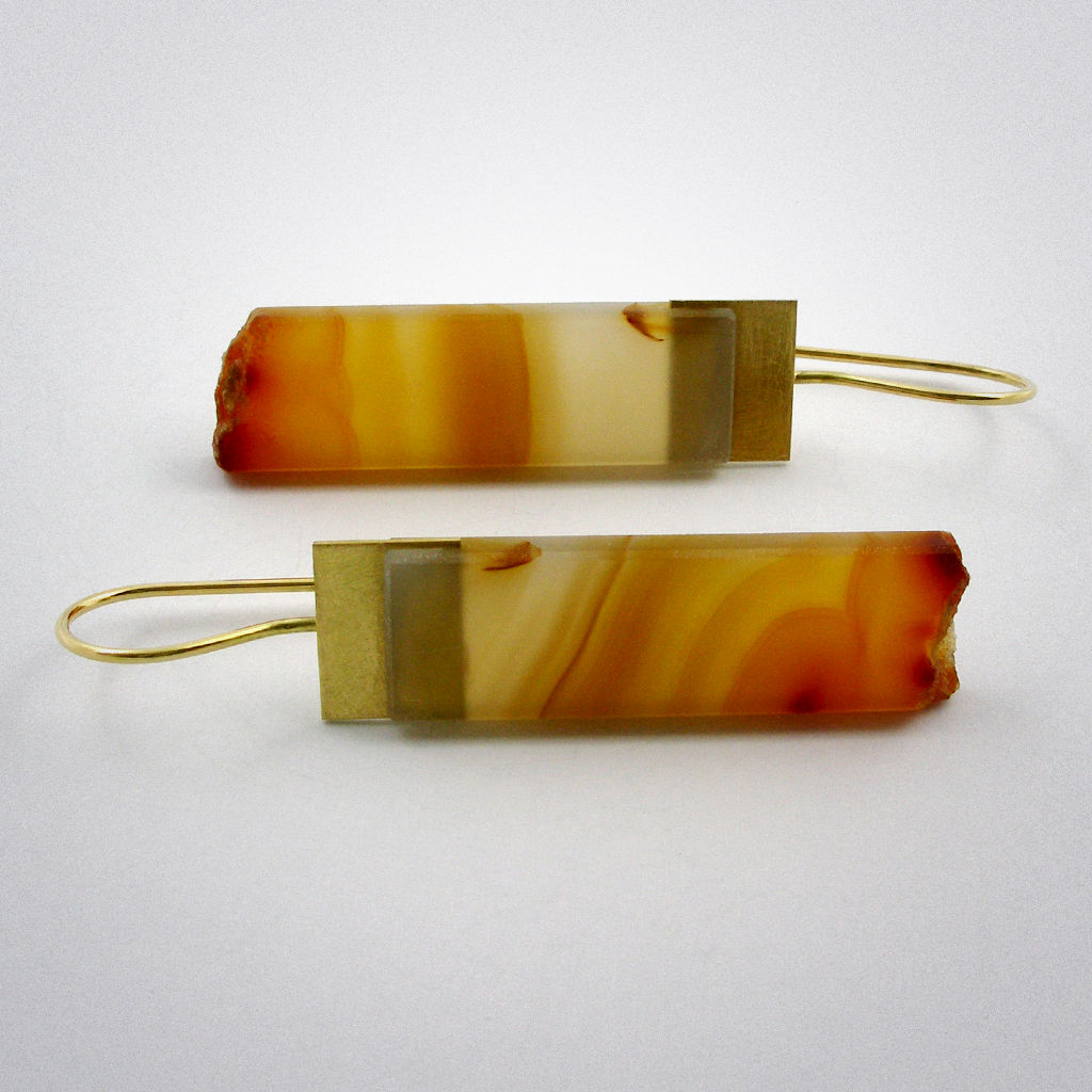 ear pendant - natural lines - Gold - product images  of