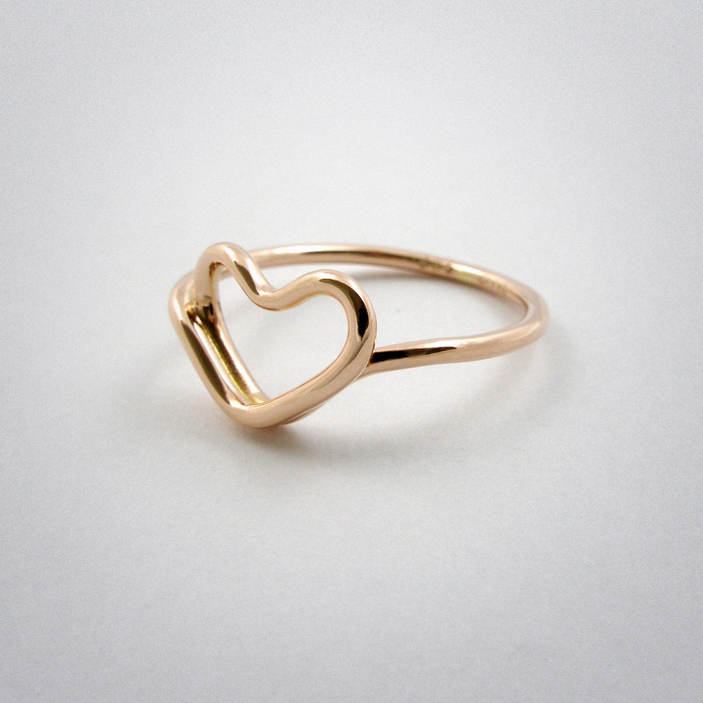 ring - cœur - pink gold €430