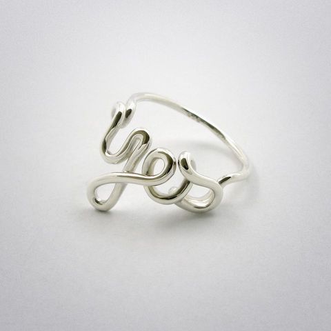 ring,-,Yes,Silber, yes, ja, 925, pour toi, Sterling, Silver, AG