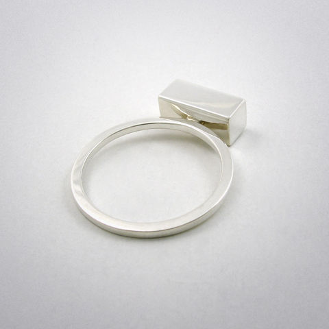 ring,-,straight,four,ag,Ring, 925 Sterling Silber, straight