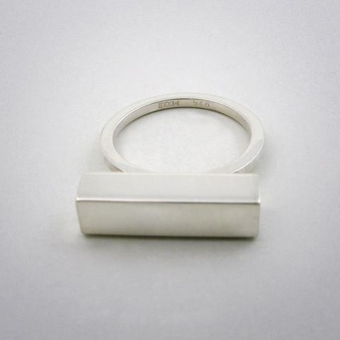 ring,-,straight,six,ag,Ring, 925 Sterling Silber, straight