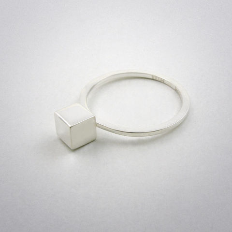 ring,-,straight,two,ag,Ring, 925 Sterling Silber, straight