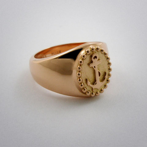 ring,-,Sailor,Girl,Gold, Sailor, Anker, 585, girl, rot, Gold, AU