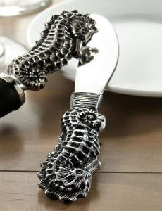 Aluminum,Seahorse,Spreader,Culinary:Tongs, Servers & Spreaders,sea horse seahorse  spreader aluminum cheese_spreader tampenade_spreader spreader starfish