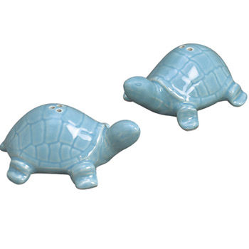 Turtle,Salt,&,Pepper,Aqua,Culinary:Salt & Pepper Shakers,turtle salt and pepper salt & pepper ceramic sadek andrea pepper mill coastal
