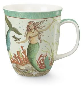 Mermaid,Hideaway,Mug,Culinary:Mugs, plates etc.,kate McRostie mermaid hideaway cape_shore mug mermaid_mug