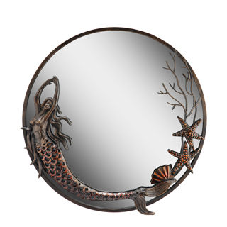 Mermaid Bronze toned mirror - Beach N Creations