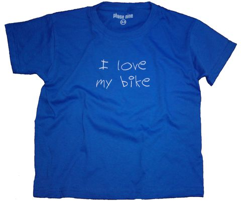 I,Love,My,Bike,Phase9 Clothing, Clothing, MTB, Cycling, Biking, Kids, Bike, T-shirt