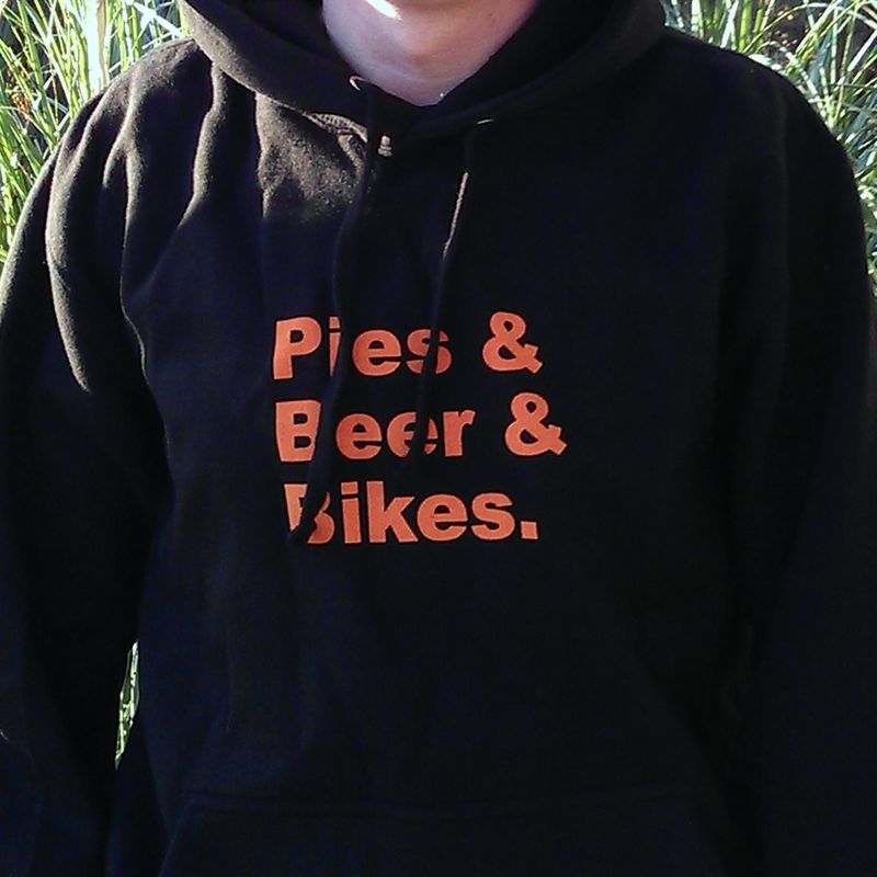 Pies & Beer & Bikes. Hoodie - product images  of