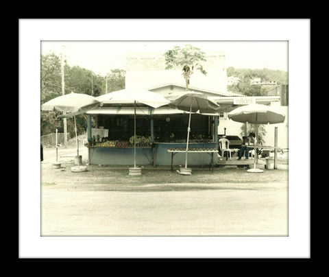 Deloris's,Smith,Bay,fruit,stand,hand colored photography,Hand colored photographs, hand colored photography  artists, Hand colored photo, Hand tinted photograph, St. Thomas USVI