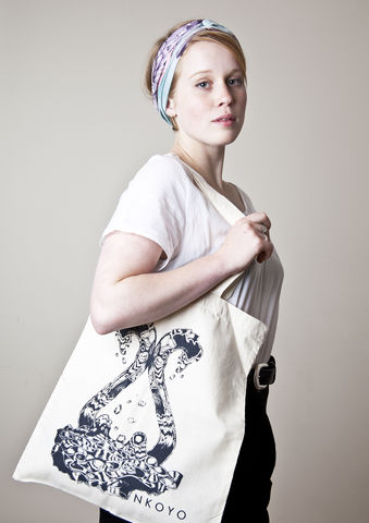 NKOYO,water,tote,bag,navy,tote bag, screen-print, water, illustration, design