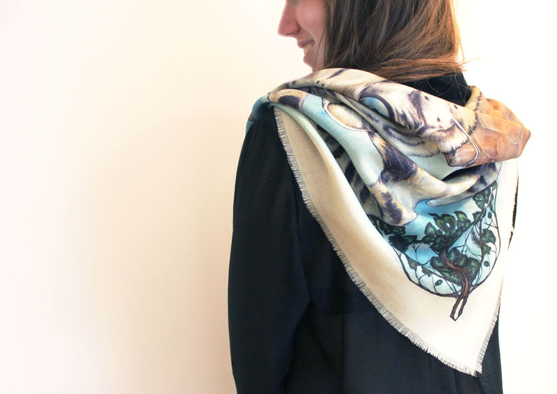 Snow Leopard Scarf - product images  of