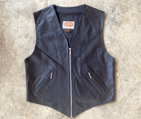 THE,BADASS,BLACK,LEATHER,MOTO,VEST,vintage, vest, motorcycle, leather, black leather, harley
