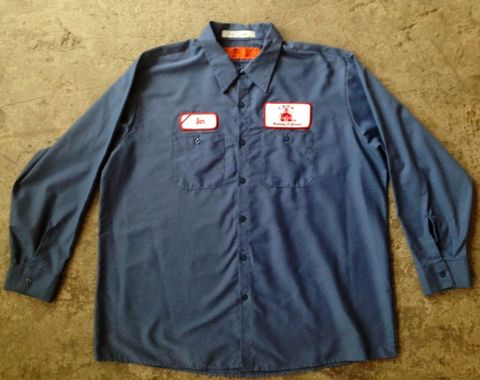 SAM,THE,MECHANIC,HEAVY,DUTY,WORK,SHIRT,vintage, work shirt, mechanic