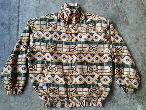 TRUE,TRIBAL,TRACK,JACKET,vintage, tribal, windbreaker, track jacket