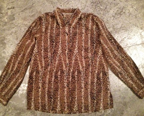 ROAR,ANIMAL,PRINT,BUTTON,DOWN,vintage, animal print, button down