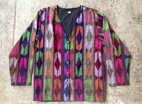 NEPAL,WOVEN,JACKET,vintage, made in Nepal, jacket, tribal print, plus size, XL