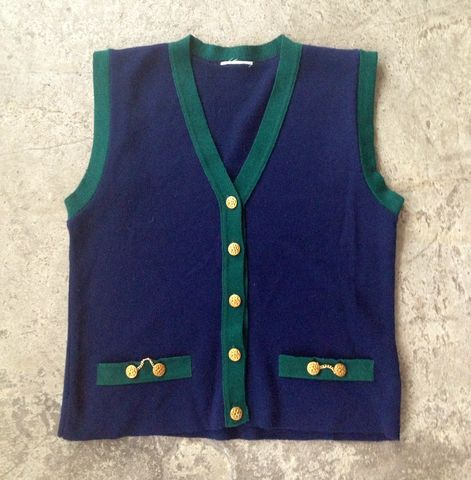 SCHOOLBOY,G,VEST,vintage, vest, fancy buttons, gold chains