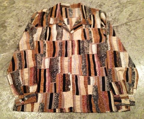 ANIMAL,HIDES,BUTTON,DOWN,vintage, animal print, button up, unisex
