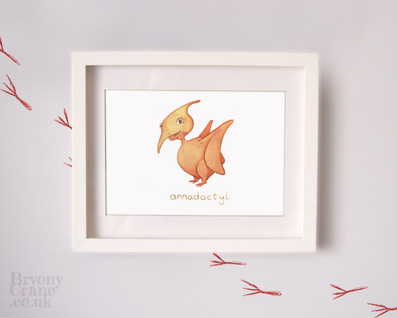 Personalised Dinosaur Baby Gift Print / Wall Art for Nursery (4 Designs) - product image