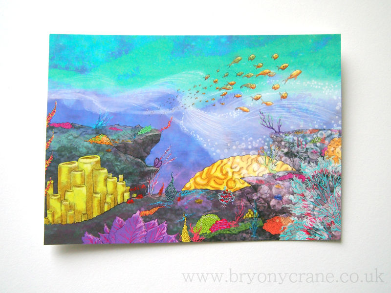 Coral Reef Postcard Print - product images