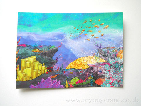 Coral,Reef,Postcard,Print,Art,Illustration,illustrated_cards,cards,illustration,stationery,postcard,illustrated_postcard,coral,coral reef,35th anniversary,card,350gsm_paper_stock