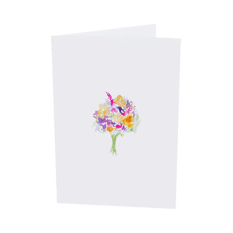 Melissa,Bouquet,Greeting,Card,bouquet, floral card, flowers, thinking of you, wedding card, bridal card, bridesmaid card