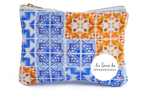 Patchwork,Tile,Clutch,Bag
