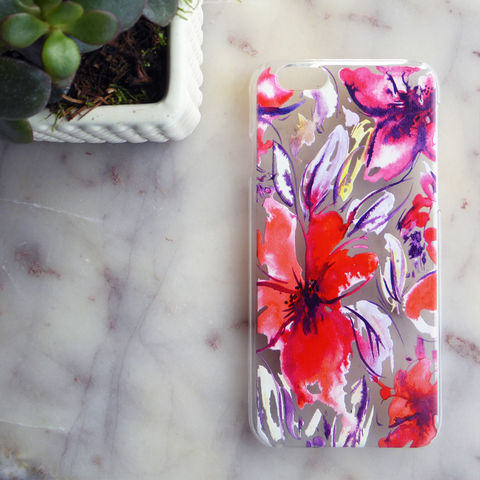 Janice,Floral,iPhone,5,,SE,,6,Case,iphone 7, animal print, phone case, christmas gift, unique design, unique gift, stocking filler, iphone case