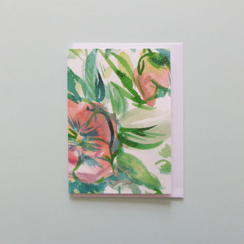 Sylvette,Greeting,Card,Gift card, watercolour, floral, greetings, card, ocassion, floral card, greeting card, flowers, floral painting, blank card, flower design, wedding, bridal, bridesmaid card, wedding card, contemporary card, painting