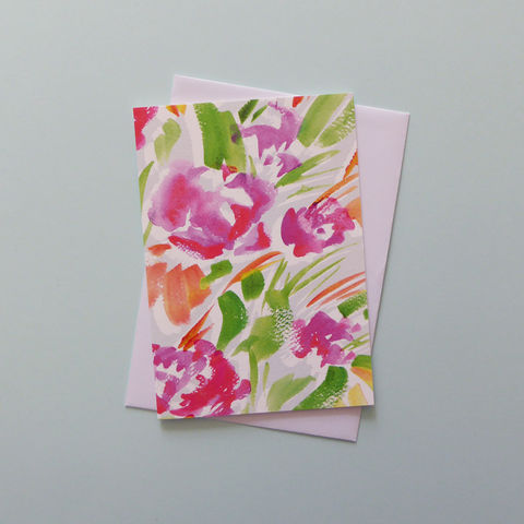 Ellie,Greeting,Card,Floral card, greeting card, flowers, floral painting, design