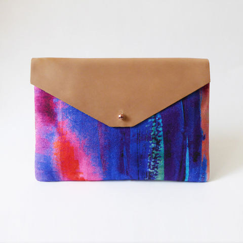 Freyja,Large,Clutch,Bag,clutch, bag, leather, cotton, design, pattern, iceland, print, accessory, fashion, style