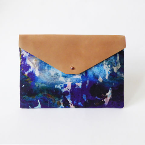 Alvida,Large,Clutch,Bag,clutch, bag, leather, cotton, design, pattern, iceland, print, accessory, fashion, style