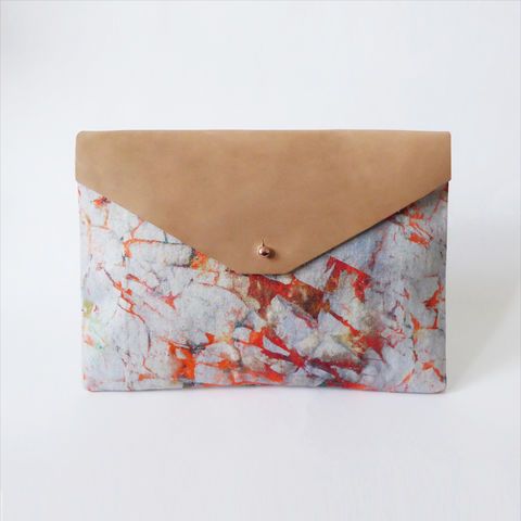 Clara,Large,Clutch,Bag,clutch, bag, leather, cotton, design, pattern, iceland, print, accessory, fashion, style