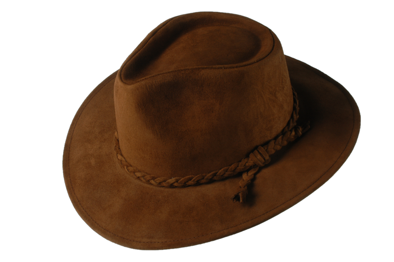 Brown Fer Suede Leather Hat - product image