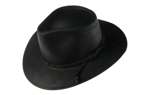 Black,Fer,Waxed,Leather,Hat,Suede Hat, Leather Hat, Waterproof Hat, Argentine Hats, Argentinian Hats, Suede Hats, Leather Hats, Waterproof Hats, Estribos, Estribos Argentina, Polo Belts, Estribos Polo Belts