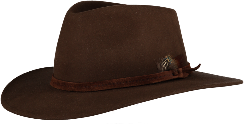 Brown Fur Felt Fedora - Home of the Original Estribos Polo Belt 1ad29c1475a