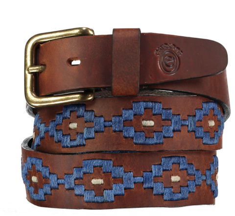 Ollie,Azul,Polo,Belt,principe, ollie polo belt, ollie, guarda pampa, pampa, Polo Belt, Argentine Belts, Argentinian Belts, Polo Belts, Belts, Estribos, Estribos Argentina, Gaucho Belts, Leather Belts, Gaucho Belt, Pampeano, Pioneros, Polka Dot Pie, Daltons, Guarda Pampa, Arge