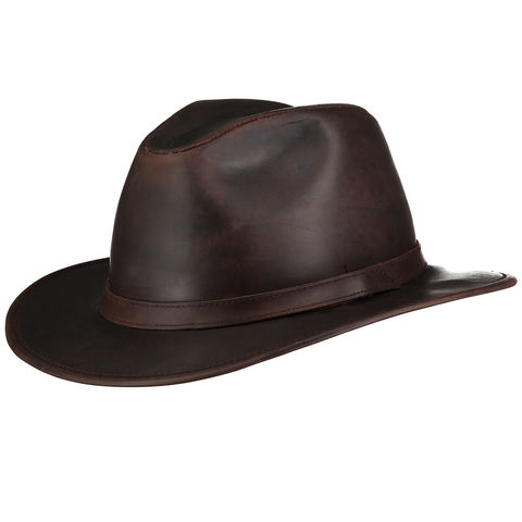 Indiana,Waxed,Leather,Hat,(Brown),Suede Hat, Leather Hat, Waterproof Hat, Argentine Hats, Argentinian Hats, Suede Hats, Leather Hats, Waterproof Hats, Estribos, Estribos Argentina, Polo Belts, Estribos Polo Belts