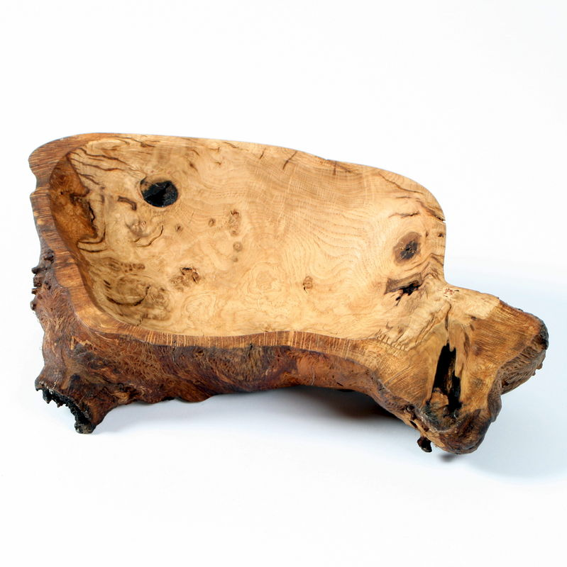 Rustic English Oak Fruit Bowl - product image