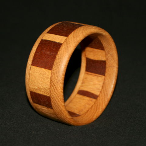 Wooden,Bangle,Segmented,with,Mahogany,&,English,Oak,Wooden Bangle, Wood Bangle, Segmented Bangle, Mahogany & Oak Bangle