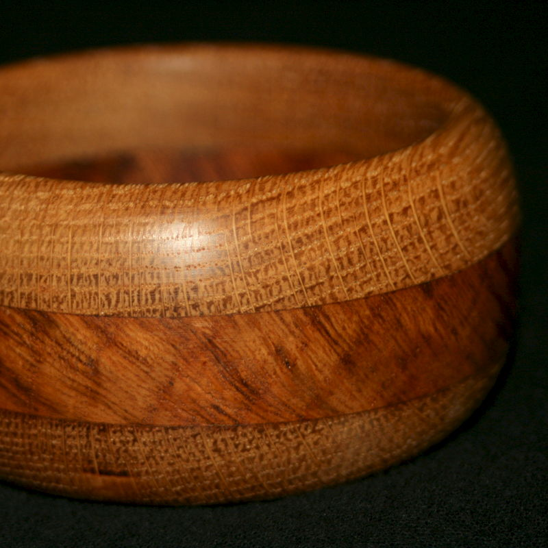 Wooden English Oak & Oak Burr Bangle - product image