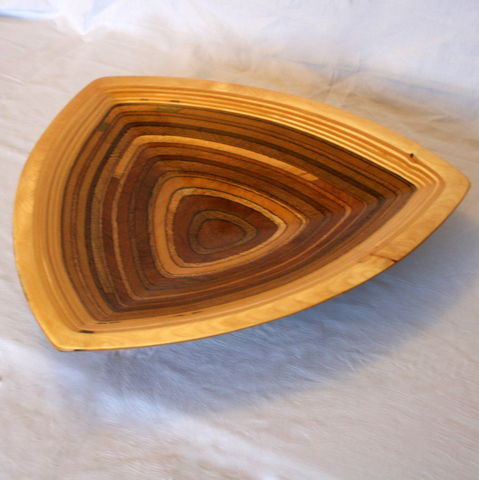 Triangular,Plywood,Fruit,Bowl,Fruit Bowl, Salad Bowl, Table decoration, Table ware, wood bowl, sculpture, carving, Plywood Bowl, handmade, display bowl, triangular bowl, serving platter